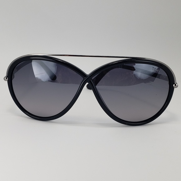 a30e8981f6034 Tom Ford Butterfly Sunglasses Silver Black Frame